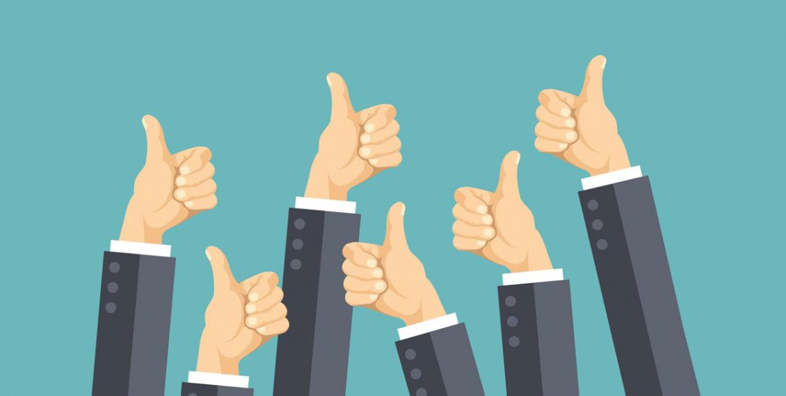 Thumbs up from customers as a marketing strategy for your dental practice website