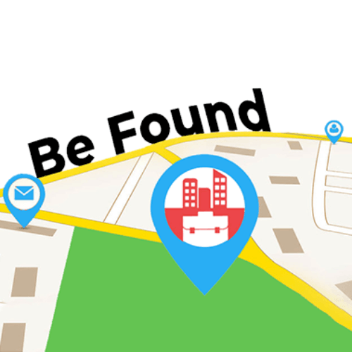 Be found locally map with different pins