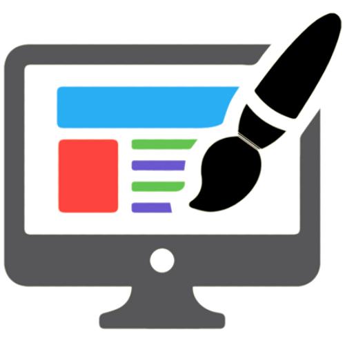 Web Design Brush in Computer Icon